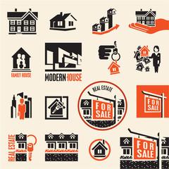 Real estate. House icon.