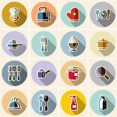 Cook icon. Chef icons set.