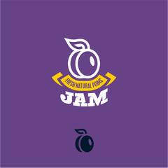 Plum icon. Plum label.