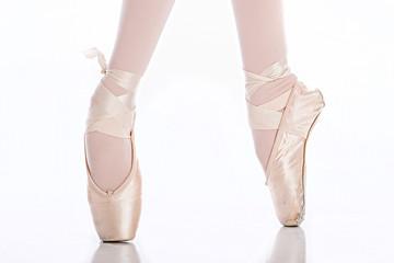 Ballet dancer feet on pointe
