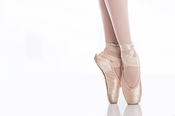 Ballet feet on pointe