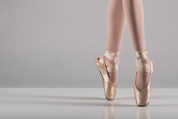 Ballet dancer standing on pointe