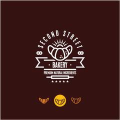 bakery logo, croissant, pastry icon