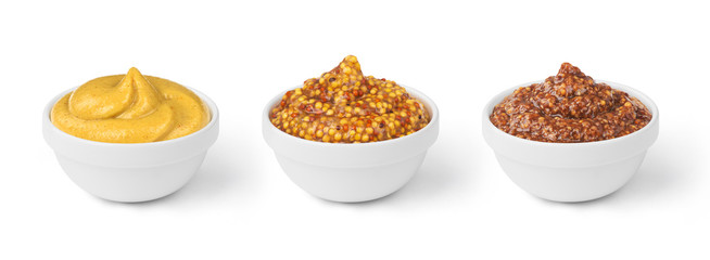 mustard in bowls set