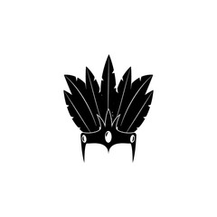 Diadem with feathers icon. Carnival element icon. Premium quality graphic design icon. Baby Signs, outline symbols collection icon for websites, web design, mobile