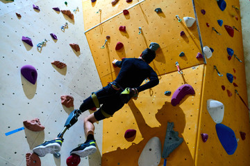 Overcoming challenges in climbing gym