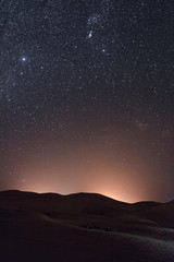 Stars over the Sahara Desert