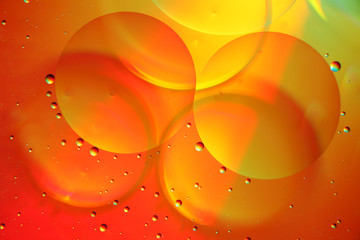 Oil on water colourful bubble