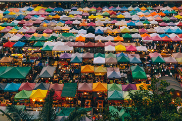 Large Outdoor Market in Bangkok