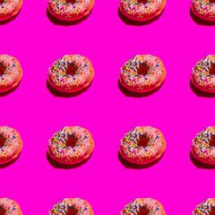 Sprinkle Donut Seamless Array