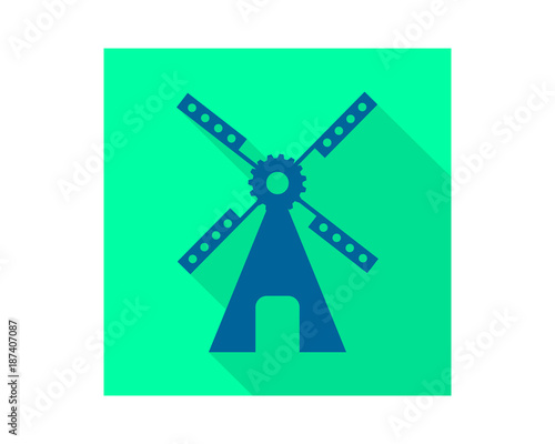 Pop Windmill Building Barn Farmhouse Dutch Image Vector Icon Silhouette