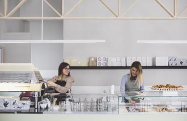 Women Working at Modern Pasty Shop