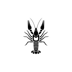 lobster icon. Fish and sea products elements. Premium quality graphic design icon. Simple love icon for websites, web design, mobile app, info graphics