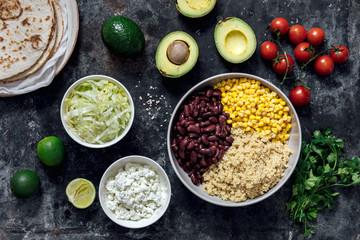 Vegetarian quinoa tacos