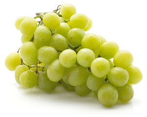 One green grape bunch (Early Sweet or Grapaes variety) isolated on white background.