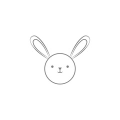cute bunny icon. Web element. Premium quality graphic design. Signs symbols collection, simple icon for websites, web design, mobile app, info graphics