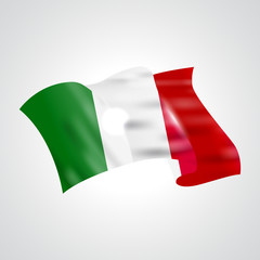 Italian flag. Flag of Italian. Bright Italian flag background. Abstract Italian ribbon vector.