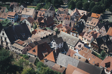 Traditional architecture in a village in Alsace, France