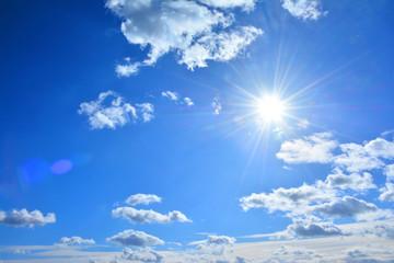 さわやかな青空 太陽