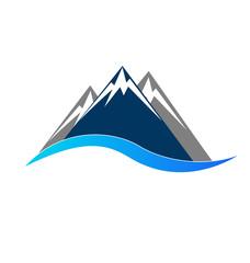 Mointains logo symbol portrait vector