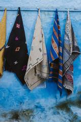 Handwoven traditional Muslim colorful prayer rugs