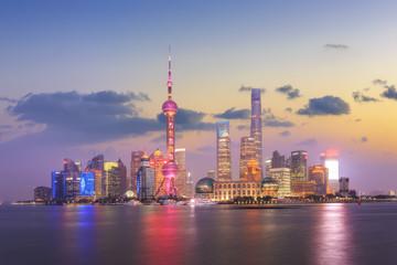 Shanghai city night view