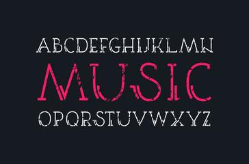 Decorative serif font in retro style