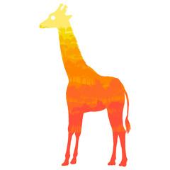 vector silhouette of giraffe