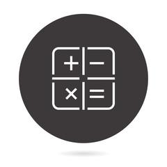Calculator line vector icon.