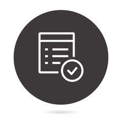 Checklist line vector icon.