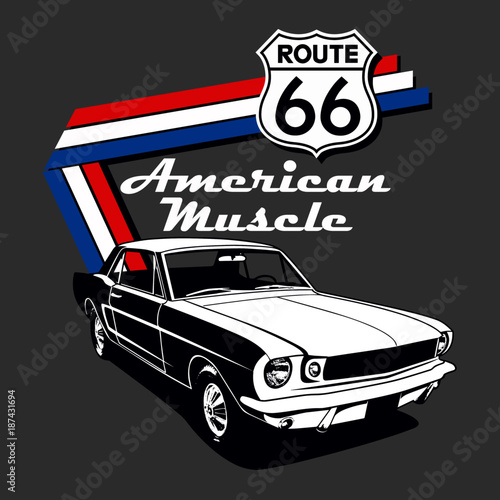 American Muscle Car Vector Graphic Design Stock Image And Royalty