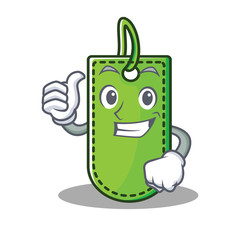 Thumbs up price tag character cartoon