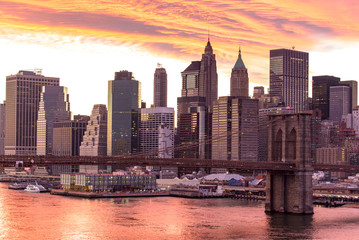 Brooklyn bridge in New york city America