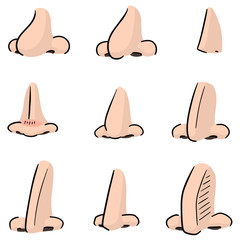 vector set of nose