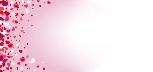 Hearts Confetti Bright Side Header