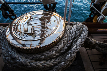 vintage bollard of Vespucci vessel
