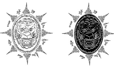 Thai traditional tattoo