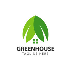 Green House Vector Template Design