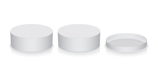 round box  mock up  template