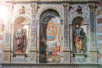 Aluminium Prints Historic monument statue del Duomo di padova