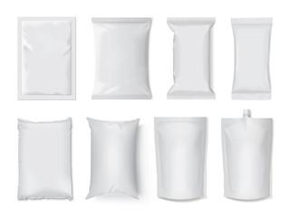 Obraz plastic and paper packaging mock up - fototapety do salonu