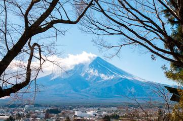 Landscape of Fuji mountain in Japan.