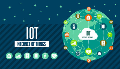 IoT ( internet of things ) image illustration (earth)