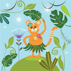 a dancing tiger