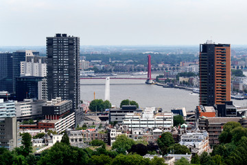 Rotterdam seen from above