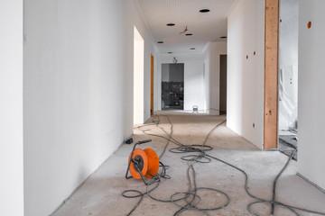 Baustelle Innen renovieren einer Wohnung