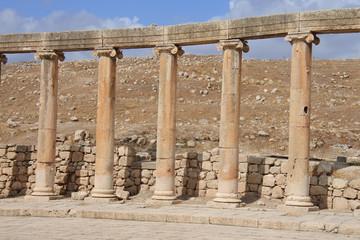 Die Agora im antiken Gerasa in Jordanien