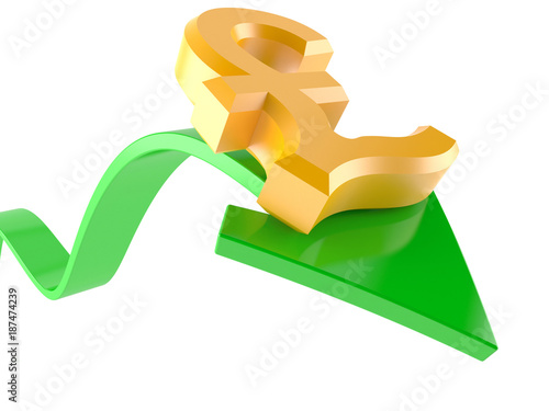 Green Arrow With Pound Currency Symbol Stock Photo And Royalty Free