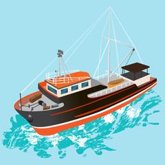 FISHING BOAT OCEAN