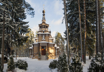 Church of St. Seraphim of Sarov. Sand. St. Petersburg. Russia